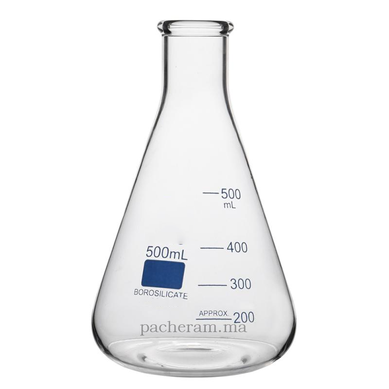 Fiole conique (Erlenmeyer) 500ml